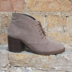 Dolce Vita Suede Stacked Heel Asher Booties